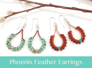 #PDF-318 - Phoenix Feather Earrings Project