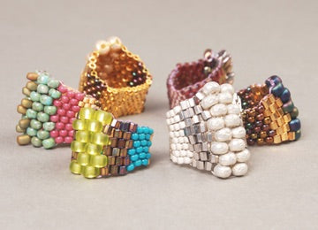 #PDF-262 - Peyote Stitch Ring Project