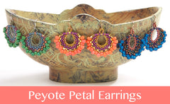 #PDF-537 - Peyote Petal Earrings