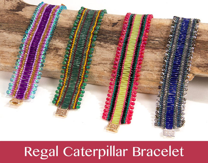 #PDF-526 - Regal Caterpillar Bracelet