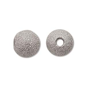 SD08SP - Stardust Beads, Silver, 8mm | Pkg 12