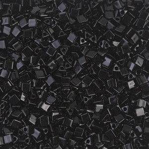 STR10-401 - Miyuki 10/0 Sharp Triangle Black | 50 Grams