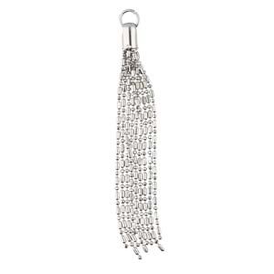 TAS007-SP -  Silver Plated Ball Chain Tassel, 3.5"