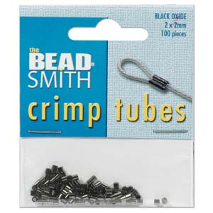 TCB20B-R - Crimp Tubes, 2mm Black Oxide, 100 Pcs | Pkg 1