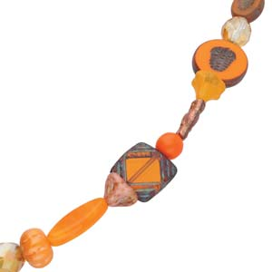 TCMIXA-ORANGE - Table Cut & Pressed Mix Orange 6In. Asstd | 1 Strand