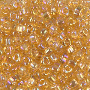 TR5-1152 - Miyuki 5/0 Triangle Seed Beads Light Topaz AB | 25 Grams