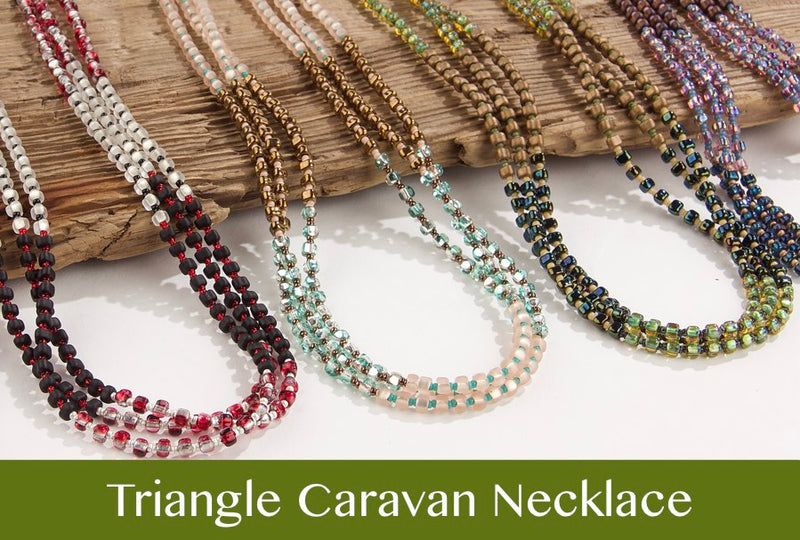 #PDF-513 - Triangle Caravan Necklace