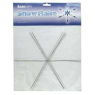 WS9 - Wire Snowflake Form, 9 inch | Pkg 4