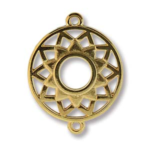 YC004GP - Gold Plated Chakra Crown Connector, 25x19mm | Pkg 1