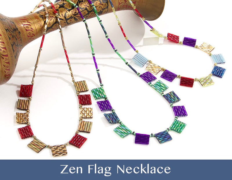 #PDF-489 - Zen Flag Necklace