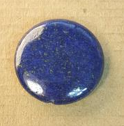 AB-0135 - Blue Lapis 30mm Coin Gemstone Pendant | Pkg 1