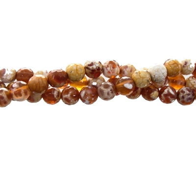 "GM-0011 - Faceted Agate Gemstone Bead Strand,Antique Carnelian,6mm | 16"" Str"