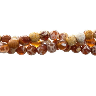 "GM-0012 - Faceted Agate Gemstone Bead Strand,Antique Carnelian,8mm | 16"" Str"