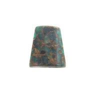 GM-0038 -Composite Agate Trapezoid Gemstone Pendant, Emerald, 25x30mm | Pkg 1