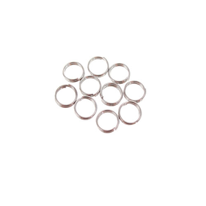 EM/6N/GM - Gunmetal Plated 6mm Split Rings | Pkg 20
