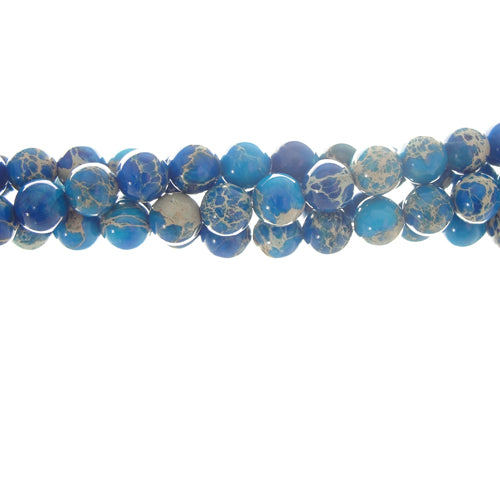 GM-0161 - 6mm Blue Variscite Gemstone Bead Strand ,16""
