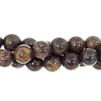 "GM-0157 - 6mm Bronzite Round Gemstone Bead Strand | 16"" Str"