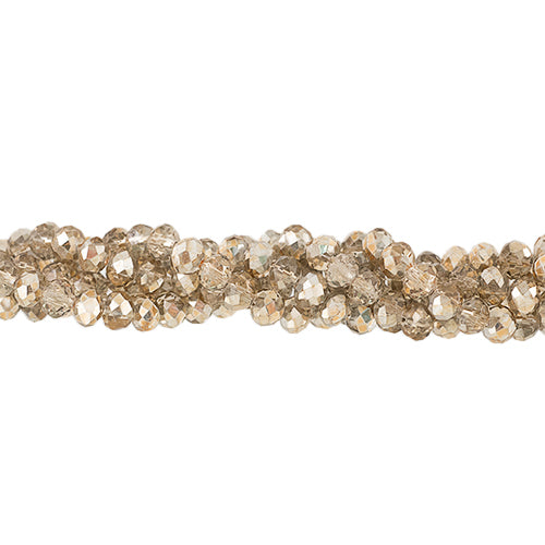 CC4X6-016 - Chinese Crystal Rondelle Bead Strand,Magic Gold,4x6mm  | 1 Strand