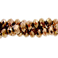 CC-082 - Chinese Crystal 4x6mm Rondelles,Copper | 1 Strand