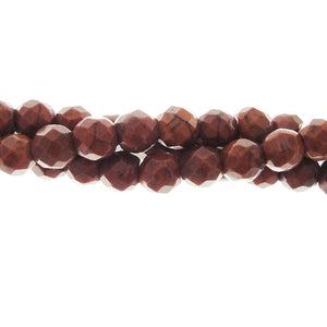 "GM-0048 - 6mm Faceted Howlite Bead Strand, Chocolate | 16"" Str"