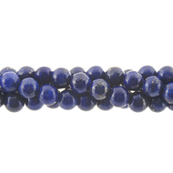 "GM-0067 - 8mm Blue Lapis Round Gemstone Bead Strand | 16"" Str"