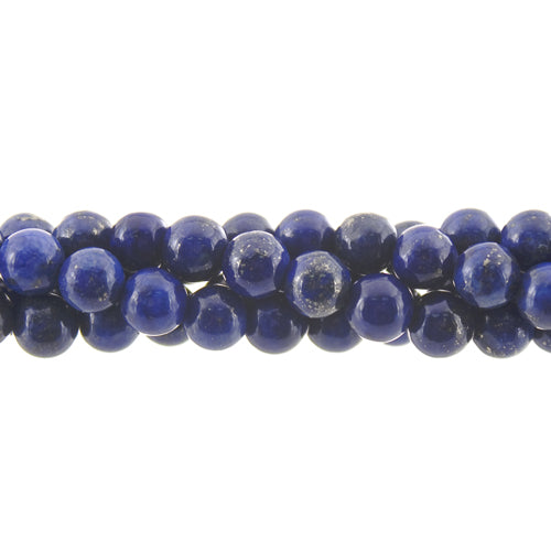 "GM-0066 - 6mm Blue Lapis Round Gemstone Bead Strand | 16"" Str"