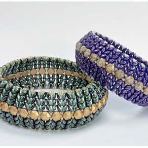 #PDF-269 - SuperDuo Honeycomb Bangle by Katie Dean