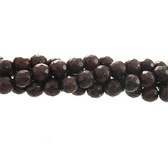 "GM-0121 - Faceted Round Jade Gemstone Bead Strand,Mocca,6mm | 16"" Str"