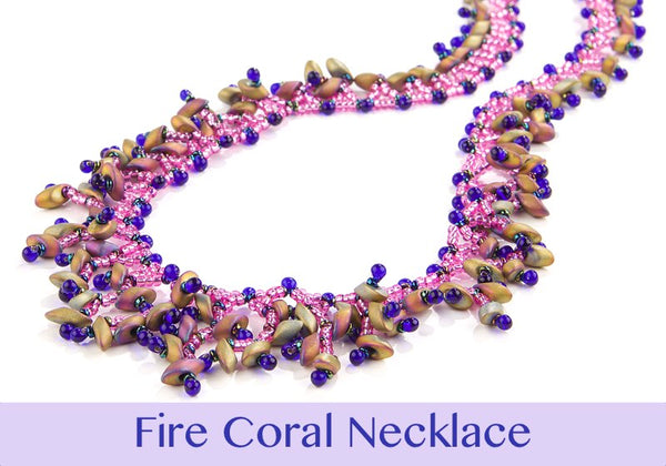 #PDF-473 Fire Coral Necklace