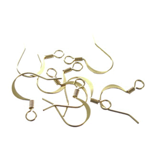 JW98G - Gold Plated Earring Findings With Coil | Pkg 12