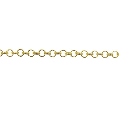CHN-0028 - Gold Plated 3mm Rolo Chain | 3 Feet