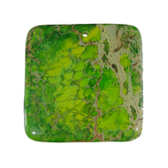 GM-0043 -Green Variscite 45mm Square Gemstone Pendant | Pkg 1