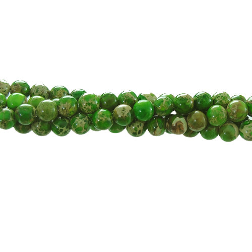 "GM-0143 - Green Variscite 4mm Gemstone Bead Strand | 16"" Str"