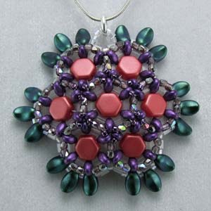 #PDF-373 - Honeycomb Pendant Project by Carolyn Cave