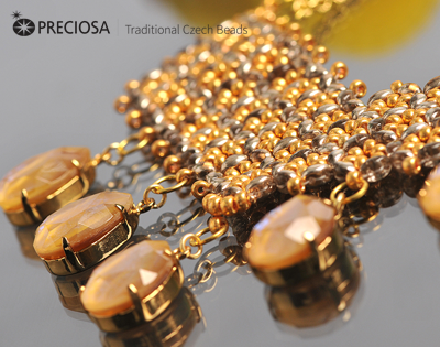 #PDF-377 - Honeycomb Necklace Project by Helena Chmelíkov
