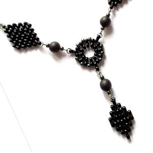 #PDF-348 - Black Diamond Necklace Project by Kateřina Ouhrabková