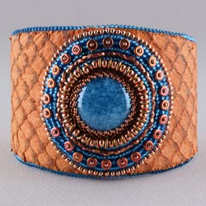 #PDF-153 - Kari Cabochon Leather Cuff Project by Linda K. Landy