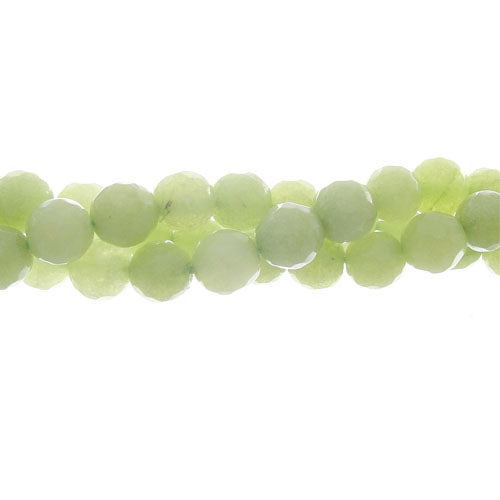 "GM-0114 - 6mm Jade Faceted Gemstone Bead Strand, Lime | 16"" Str"