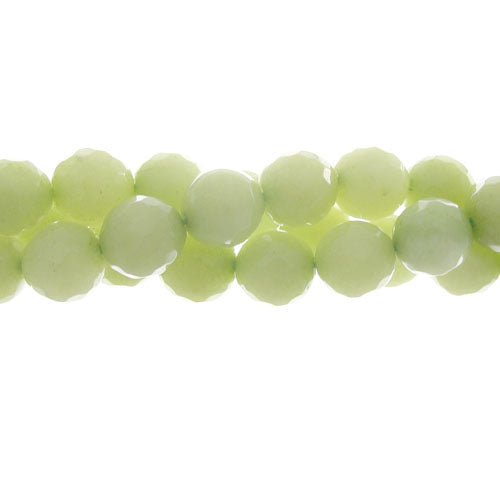 "GM-0113 - 8mm Jade Faceted Gemstone Bead Strand, Lime | 16"" Str"