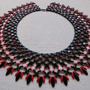 #PDF-139 - Ukranian Honeycomb Netted Collar Necklace Project by Maria M. Rypan