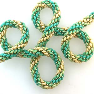 #PDF-338 - SuperDuo Ombre Rope Necklace Project by Susan Sassoon