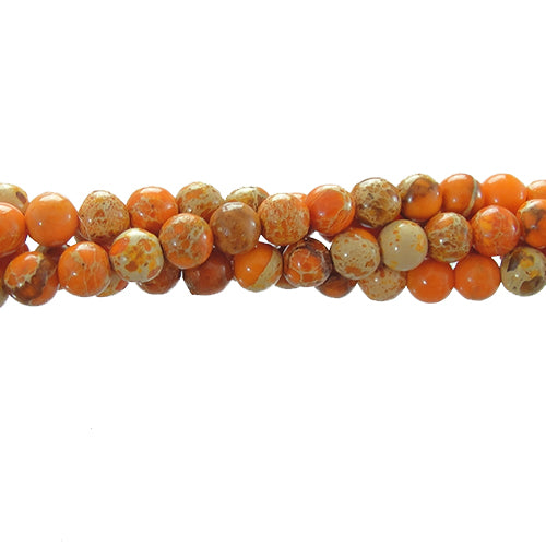 "GM-0151 - Orange Variscite 4mm Gemstone Bead Strand | 16"" Str"