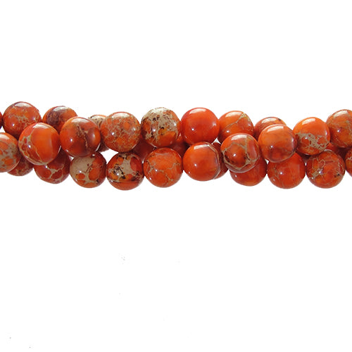 "GM-0152 - Orange Variscite 6mm Gemstone Beads  | 16"" Strand"