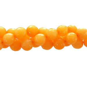 "GM-0154 - Pumpkin Jade Faceted Gemstone Bead Strand,8mm | 16"" Str"