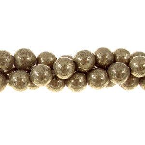 GM-0344 - Pyrite 4mm Gemstone Bead Strand | Pkg 1