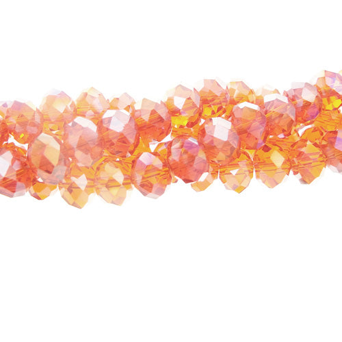 CCCAB23 - Chinese Crystal 2x3mm Rondelles, Crystal Copper AB | 1 Strand