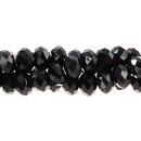 CL-9141 - Chinese Crystal Rondelle Beads, Jet, 6x8mm | 1 Strand