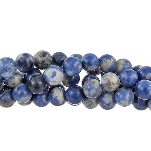 "GM-0132 - 8mm Sodalite Round Gemstone Bead Strand | 16"" Str"