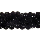"GM-0140 - 6mm Onyx Round Gemstone Bead Strand | 16"" Str"