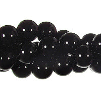 "GM-0070 - 10mm Onyx Round Gemstone Beads | 16"" Strand"